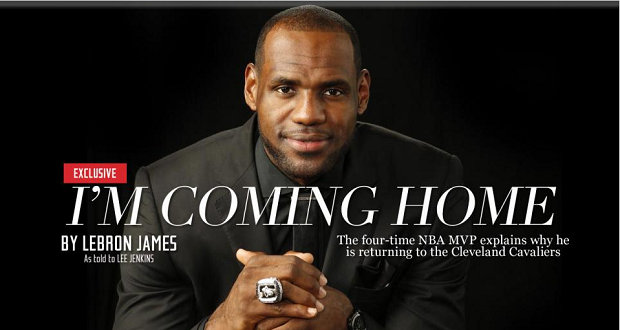 LeBron James coming home, Sport illustrated