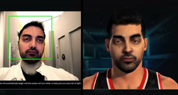 NBA 2k15 modélisation 3D visage. source : http://gamesided.com