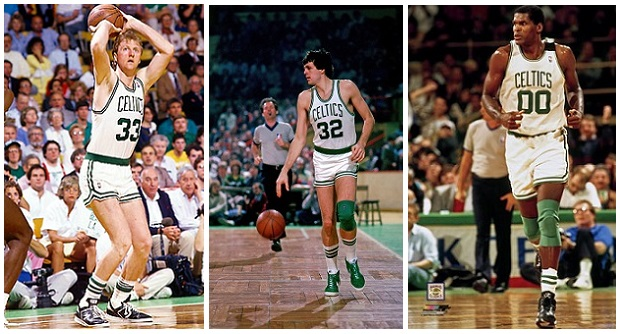 Larry Bird + Kevin McHale + Robert Parish
