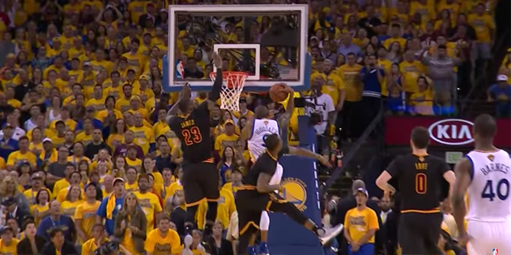 The Block LeBron James Andre Iguodala