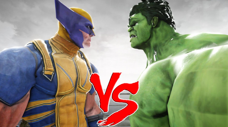 fight battle marvel comics hulk wolverine