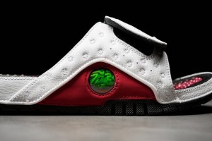 Tongs claquettes Air Jordan 13 Chicago