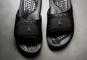 Tongs claquettes Air Jordan 13 Black Cat