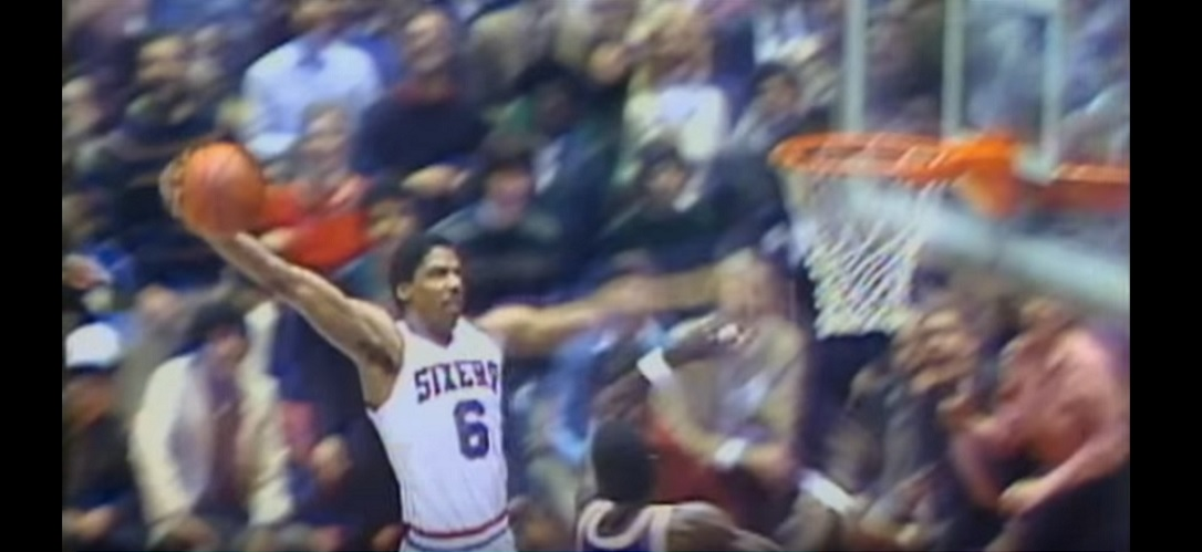Julius Erving Rock The baby Dunk