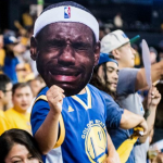 warriors fan crying