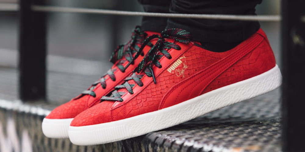 puma clyde rouge