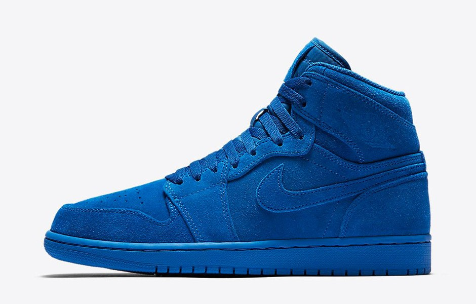 Air Jordan 1 High Suede Blue Bleu ...