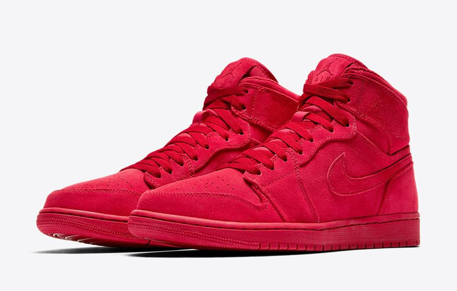... Air Jordan 1 High Suede Red Rouge ...
