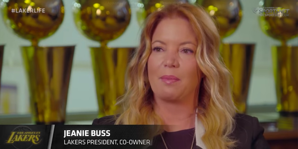 Jeanie Buss Lakers - Lonzo Ball