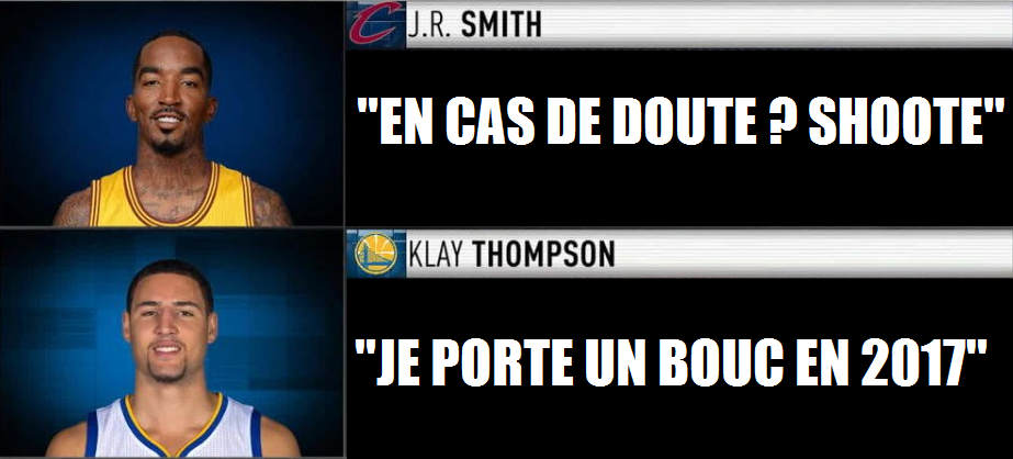 Klay Thompson JR Smith