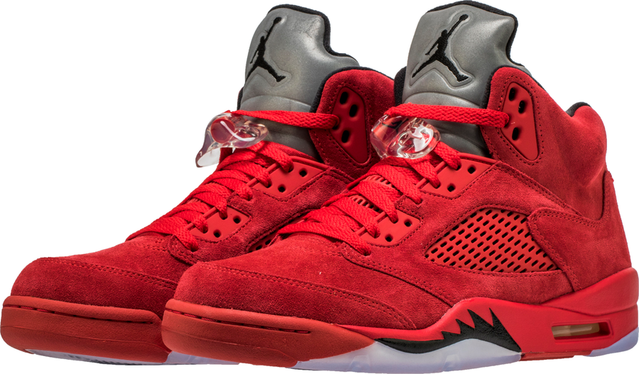 ... Air-Jordan-5-Red-Suede-1 ...