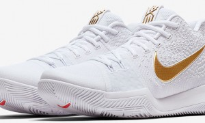 Nike Kyrie 3 White and Gold