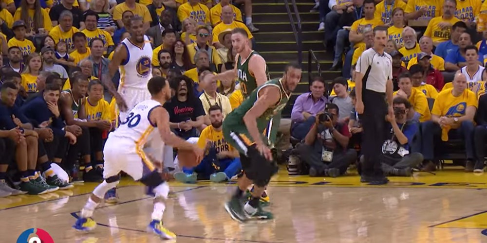 Stephen Curry Rudy Gobert crossovers