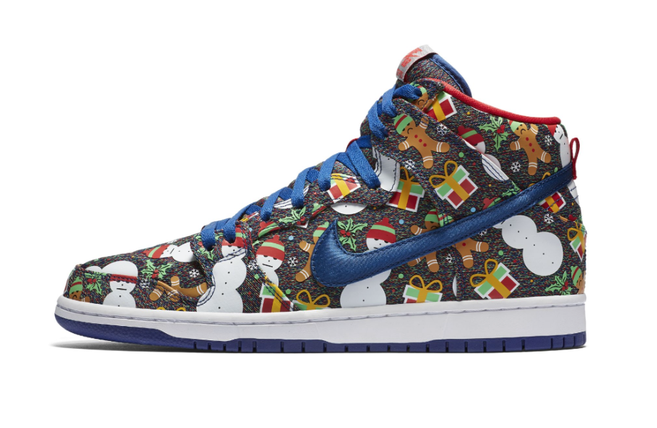 Concepts x Nike SB Dunk High Ugly Christmas Sweater