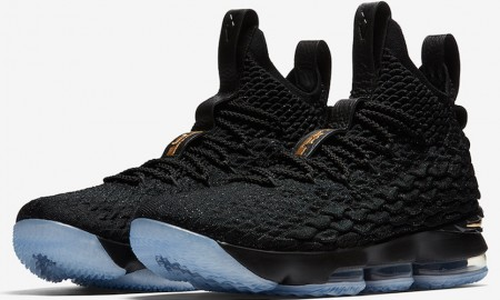 Nike LeBron 15 Black Metallic Gold