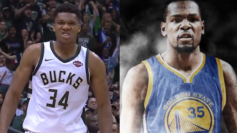Kevin Durant - Warriors - Giannis Antetokounmpo