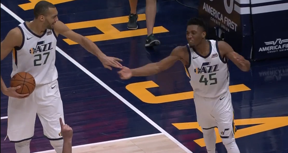 Jazz Donova Mitchell - Rudy Gobert