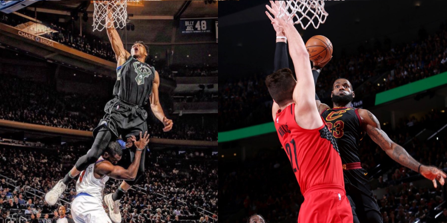 dunk lebron giannis