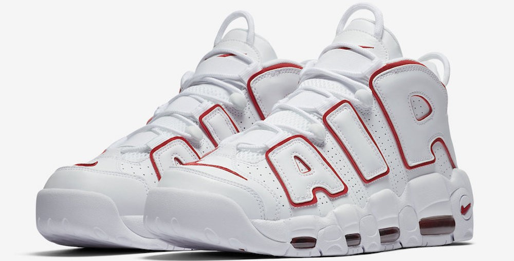 "Nike Air More Uptempo ""White/Red"""