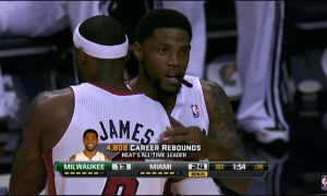 lebron james udonis haslem