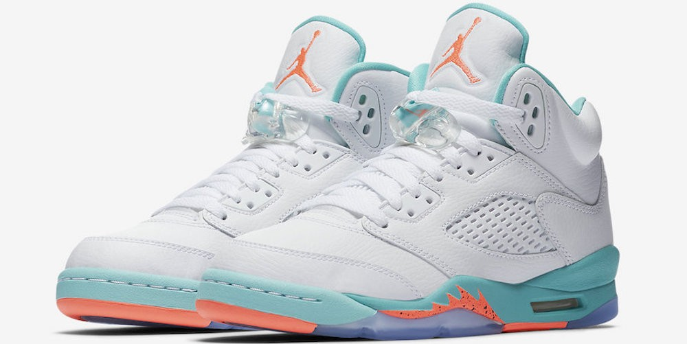 Air Jordan 5 GS Light Aqua
