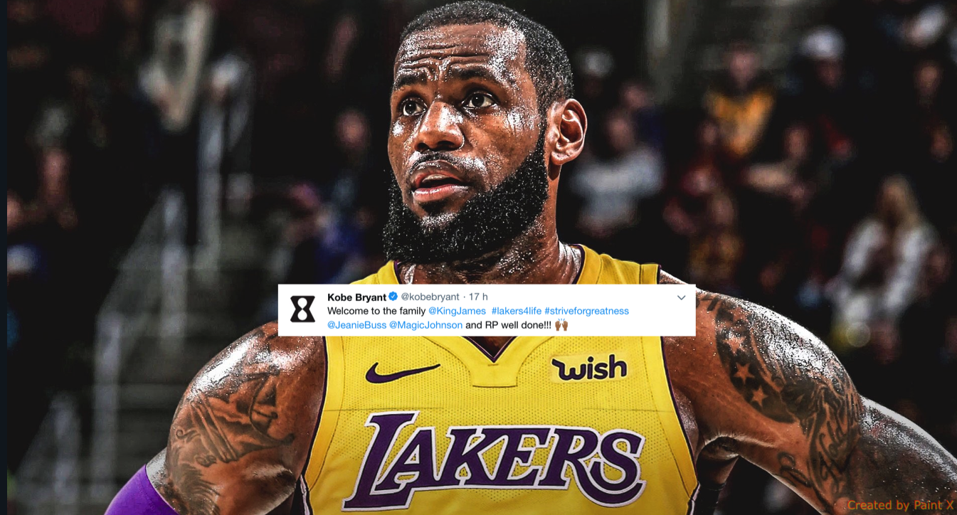 LeBron James Lakers Twitter