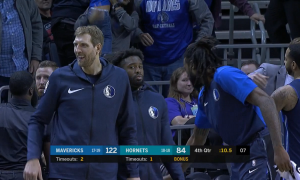 Dirk Nowitzki Dallas Mavericks vs Charlotte Hornets