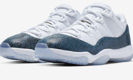 Air Jordan 11 Low Blue Snakeskin