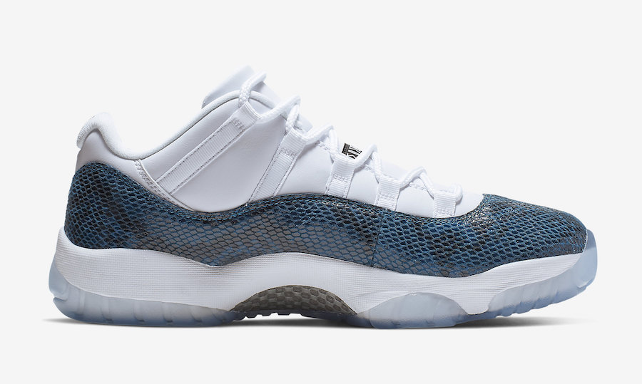85fadab62fc510 Air Jordan 11 Low Blue Snakeskin   on bascule définitivement en mode ...