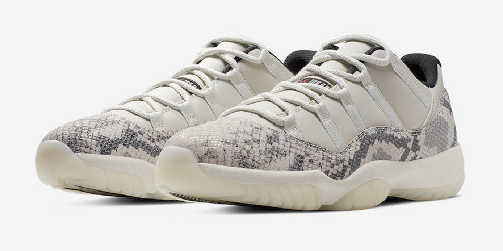 Air Jordan 11 Low Snakeskin Light Bone : Jordan Brand ne peut plus se passer de serpent