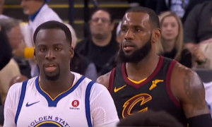 LeBron James et Draymond Green