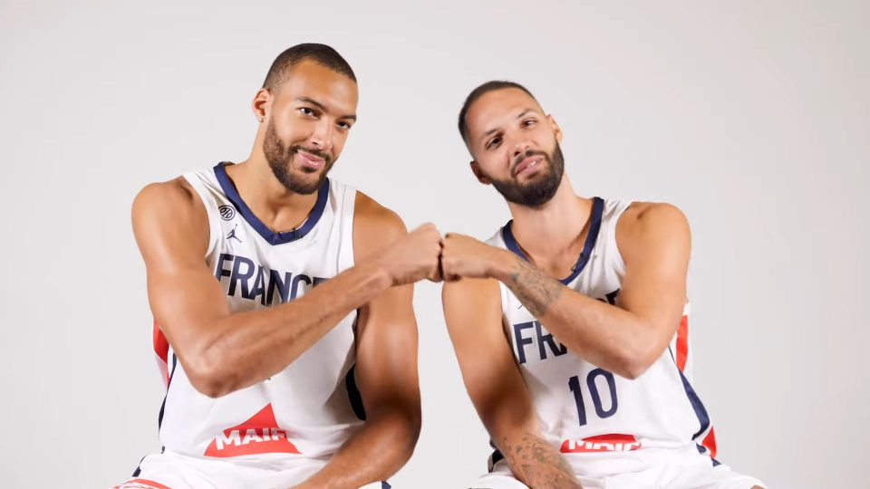 Evan Fournier Rudy Gobert équipe de France