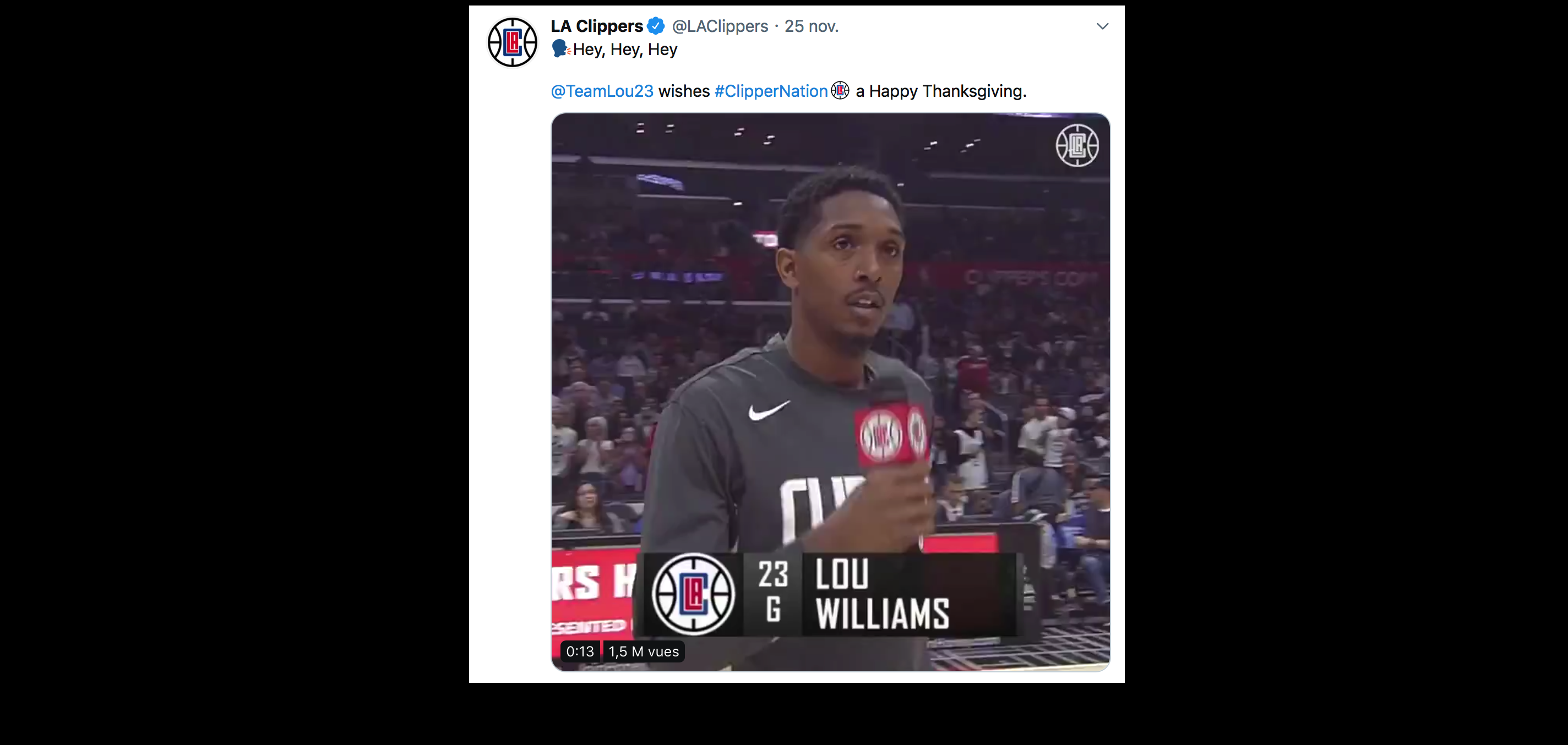 Lou Williams Hey Hey Hey