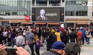 Fans Staples Center Kobe