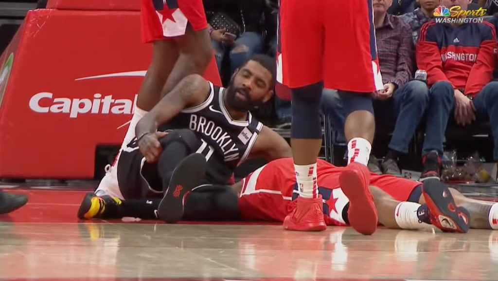kyrie irving injury 29 mars 2020