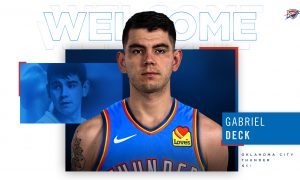 Gabriel Deck Oklahoma City Thunder 13 avril 2021