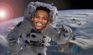 Russell Westbrook astronaute